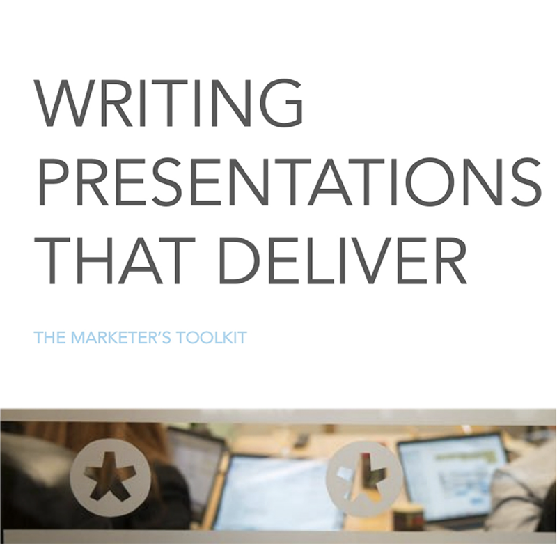 The Marketer's Toolkit: Presentation on presentations